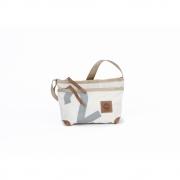360 Grad - Deern Lütt sac en toile Blanc / nombre gris