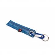 360 Grad - Karabiner Schlüsselanhänger Blau