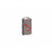 360 Grad - Tonne Kosmetikbeutel rund Kevlar / Anker Rot