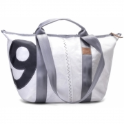 360 Grad - Schlepper Mini Canvas Bag, White, Grey Number
