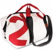 360 Grad - Kutter XL Travel bag white, number red, belt red/black