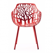 Fast - Forest Armchair Outdoor | Coral Red
