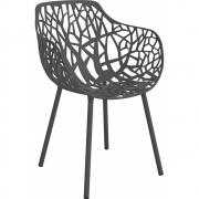 Fast - Forest Armchair Metallic Grey