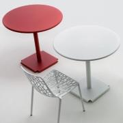 Fast - Tonik / Cross Tisch Outdoor Ø 60 cm | Schwarz | Schwarz