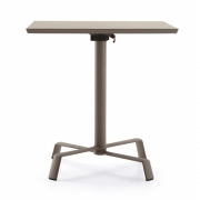 Fast - Tonik / Elica Folding Table 70 x 70 cm | Pearly Gold | Pearly Gold