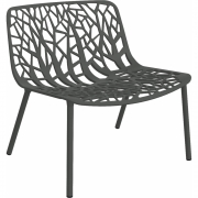 Fast - Forest fauteuil lounge Gris métal
