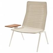 Fast - Zebra Knit Loungesessel mit hoher Rückenlehne und Tisch