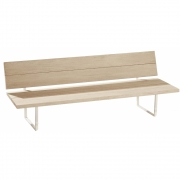 Fast - New-Wood Plan Bench with Backrest