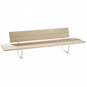 Fast - New-Wood Plan Bench with Backrest and Side Tables