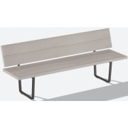 Fast  - Orizon Outdoor Bench with backrest