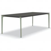 Fast - AllSize Tisch mit Platte aus gesprenkeltem Aluminium, anthrazit