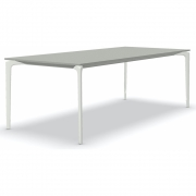 Fast - AllSize table with top in speckled aluminium, grey 220x100 cm | White