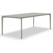 Fast - AllSize Tisch mit Platte aus gesprenkeltem Aluminium, grau