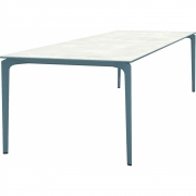 Fast - AllSize table with porcelain stoneware table top, snow 300x100 cm | Blue Teal