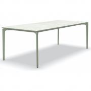 Fast - AllSize Tisch mit Platte aus Feinsteinzug, Snow