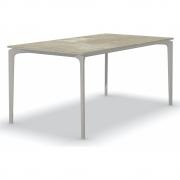 Fast - AllSize Tisch mit Platte aus Feinsteinzug, Hazel 160x90 cm | Pulvergrau
