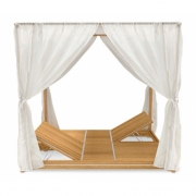 Ethimo - Essenza Double Canopy Sun Lounger
