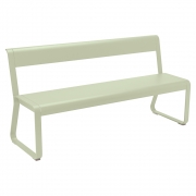 Fermob - Bellevie Bench with backrest   Willow Green