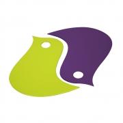 Fermob - Basics Oiseaux dessous de plat Verveine / Aubergine