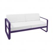 Fermob - Bellevie Sofa 2-Sitzer Aubergine | Grauweiß