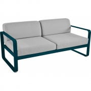 Fermob - Bellevie Sofa 2-Sitzer Acapulcoblau | Flanellgrau