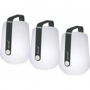 Fermob - Balad lot de 3 lampes extérieures H 12 cm Carbone