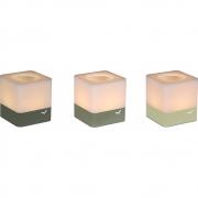 Fermob - Cuub Teelichthalter (3er-Set) Lindgrün / Kaktus / Rosmarin