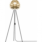 Umage by Vita Copenhagen - Silvia Floor Lamp H 133 cm (Mini) | Brass | Black