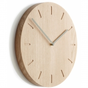 applicata - Watch:Out Wall Clock Oak / Green
