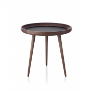 applicata - Tisch Table Ø 49 cm | Smoked Oak / Black