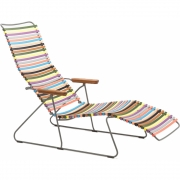 Houe - Click Sunlounger Multi color 1 (red/yellow)