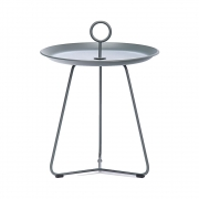 Houe - Eyelet Tray Table Ø 45 cm; H. 45.5 cm | Dark Grey