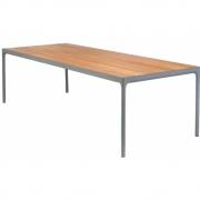 Houe -  Four Outdoor Tisch Bambus/Grau | 90 x 210 cm