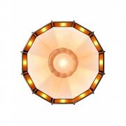 Foscarini Diesel - Mysterio Deckenleuchte Weiß-Kupfer