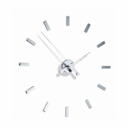 Nomon - Tacon Wall Clock i 4 h | Chromed/Red | 74 cm