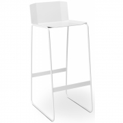 Müller Möbelfabrikation - Martino Bar Stool with Backrest, White