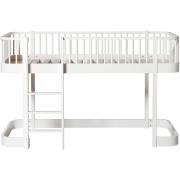 Oliver Furniture - Wood halbhohes Hochbett 90 x 200 cm Leiter vorne