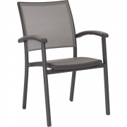 Stern - Milano fauteuil empilable Anthracite / Argent