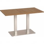 Stern - Tisch mit Teakplatte 130x80 cm