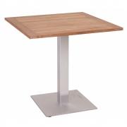 Stern - Tisch mit Teakplatte 70x70 cm