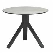Stern - Freddie Beistelltisch Ø 60 cm Anthrazit Tischplatte: Dekor Zement hell