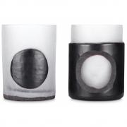 Tom Dixon - Carved Stem Vase (Set of 2) Black