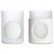 Tom Dixon - Carved Stem Vase (Set of 2) White