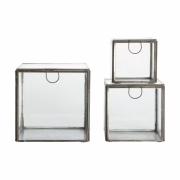 House Doctor - Aufbewahrungsboxen (3er Set) Silber
