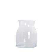 House Doctor - Ruby Vase Ø 13 cm, H: 16 cm | Transparent