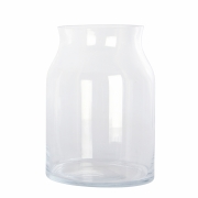 House Doctor - Ruby Vase Ø 17 cm, H: 24 cm | Transparent