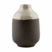 House Doctor - Earth Vase Grau/Schwarz