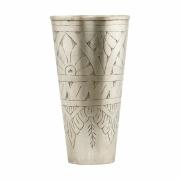 House Doctor - Lassi Vase Ø 9.5 cm, H: 18 cm | Silber