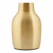 House Doctor - Effect Vase Ø 8.5 cm, H: 14 cm | Brass