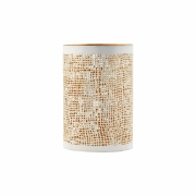 House Doctor - Hessian Lantern Small | White / Gold